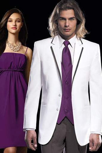 Connery white with black trim tuxedo, prom tuxedo, white and black tuxedo, friar tux