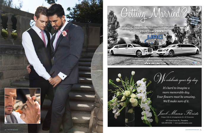 Greystone park and Mansion, Astudillo photography, Los Angeles wedding, same sex wedding, gay wedding, LGBT, frontiers magazine, schultz world, Groom with cake, Frontier_24