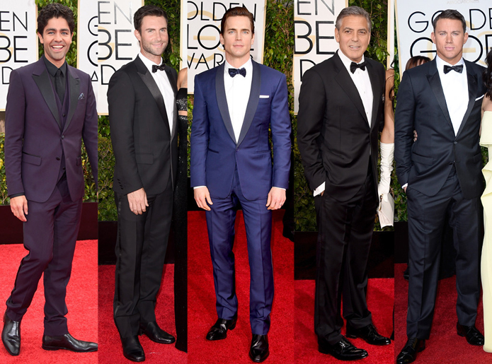 2015 Golden Globes Men's Fashion