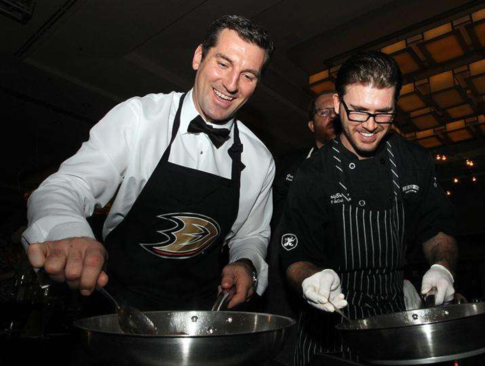 Anaheim Ducks, Dux in Tux 2015, charity event, dress to impress, chef, orange county dining, hockey, sports, Anaheim ducks foundation, Anaheim Hilton, ducks as a sous chef
