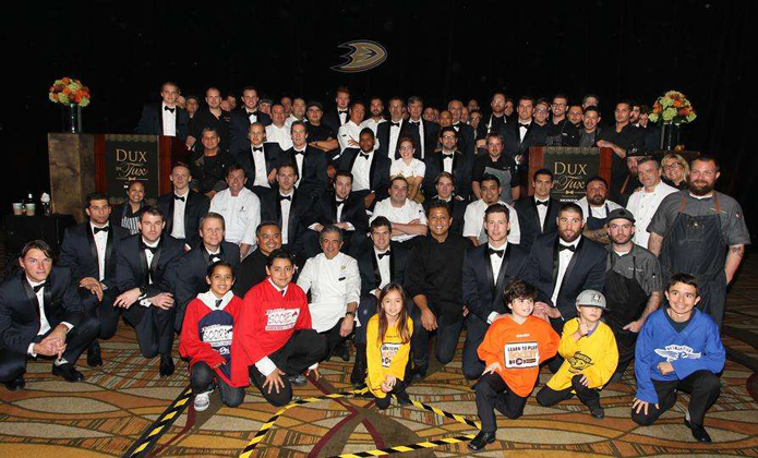 Anaheim Ducks, Dux in Tux 2015, charity event, dress to impress, chef, orange county dining, hockey, sports, Anaheim ducks foundation, Anaheim Hilton, dux in tux cover photo