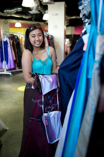 Free prom dress, charity, self-confidence, individuality, beauty, community support, volunteer, San Diego, dress donations, monetary donations, prom, high school prom, get a free dress, accessories, girl and dress 1