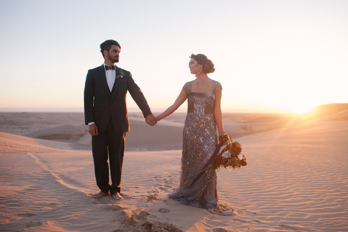 California Desert Sand Dunes Wedding