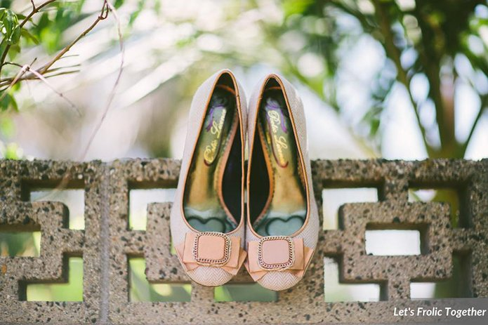 Casa Bella Event Center Wedding Neutral Blush Bridal Heels, pink wedding shoes with bows