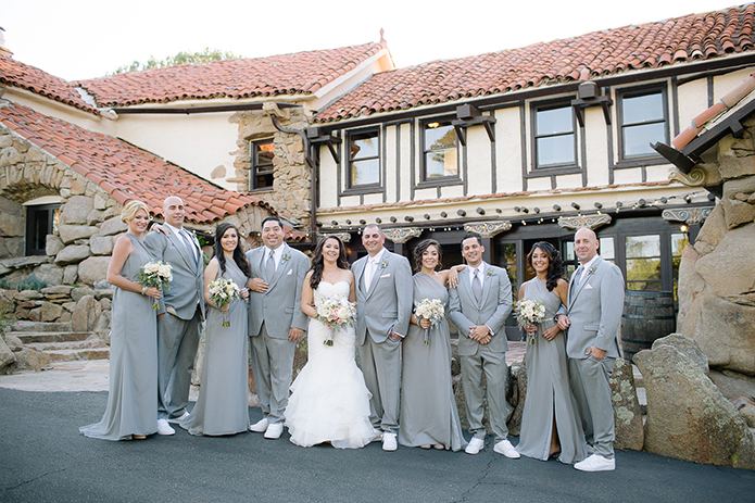 Grey Wedding Style at Mount Woodson Castle