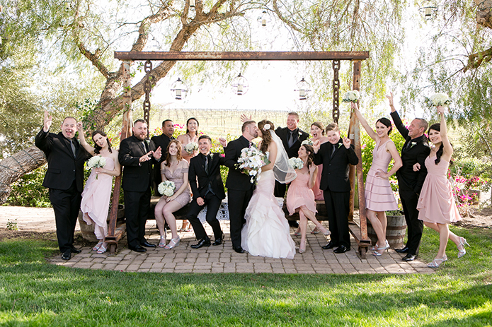 Blush Pink Temecula Vineyard Wedding