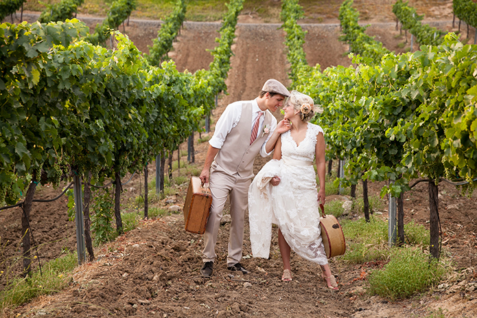 Bel Vino Winery Rustic Wedding