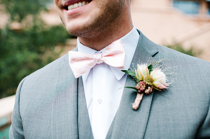 7f584380c4ad ... Rancho Valencia outdoor wedding groom grey suit with white dress shirt  and matching vest with blush ...