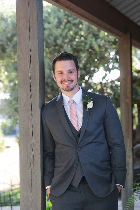 251c8e1f48ae ... Maravilla gardens outdoor wedding groom charcoal grey suit with  matching vest and white dress shirt with ...