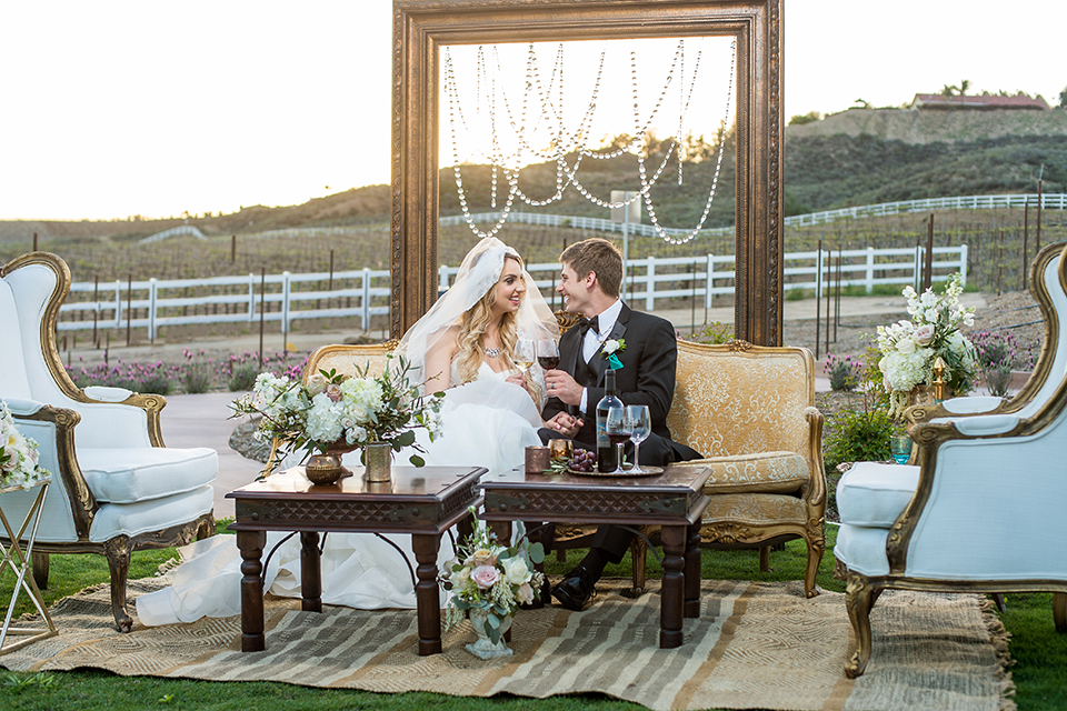 Glamorous Gold Vineyard Wedding