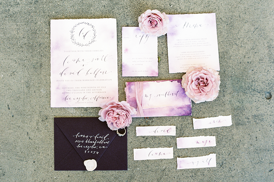 Los Angeles Wedding Invitations: Industrial Bohemian Los Angeles Wedding