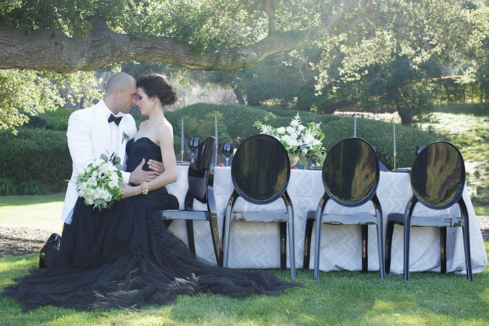 Iconic Black & White Wedding at Sherwood Country Club