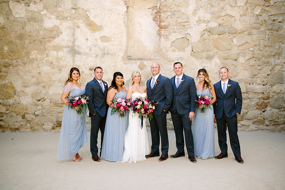 Grey and Pink Rancho Capistrano Winery Wedding
