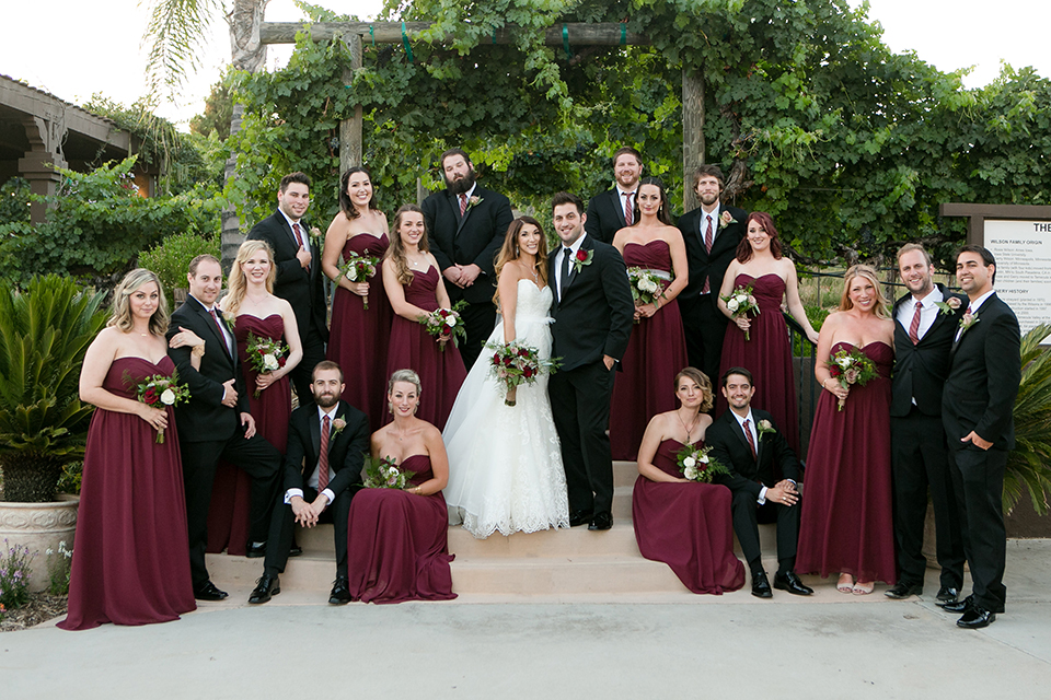 Burgundy Wedding at Wilson Creek Winery
