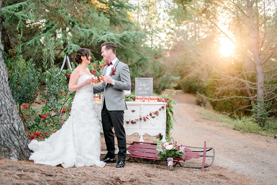 Christmas Inspired Wedding at South Coast Botanical Gardens
