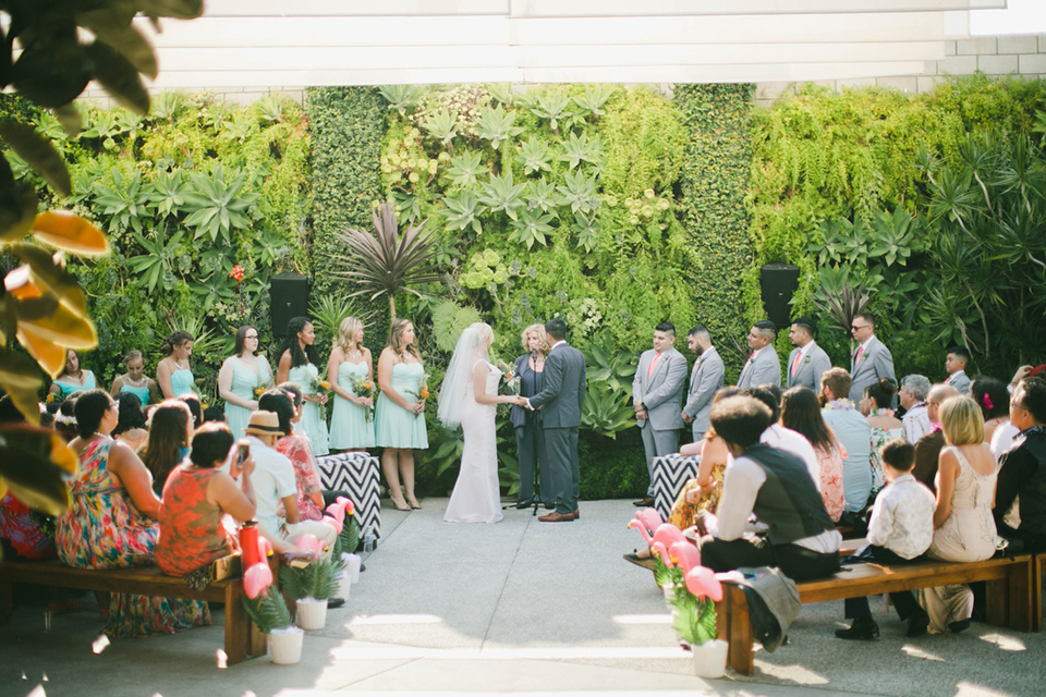 Bright Tropical Wedding at the Smogshoppe LA
