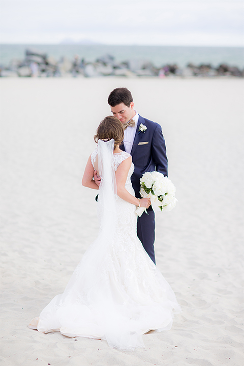 Gold And Blue Beach Glam Wedding At The Hotel Del Coronado