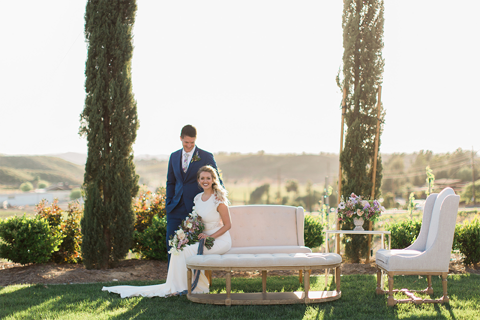 Modern Romantic Wine Country Wedding