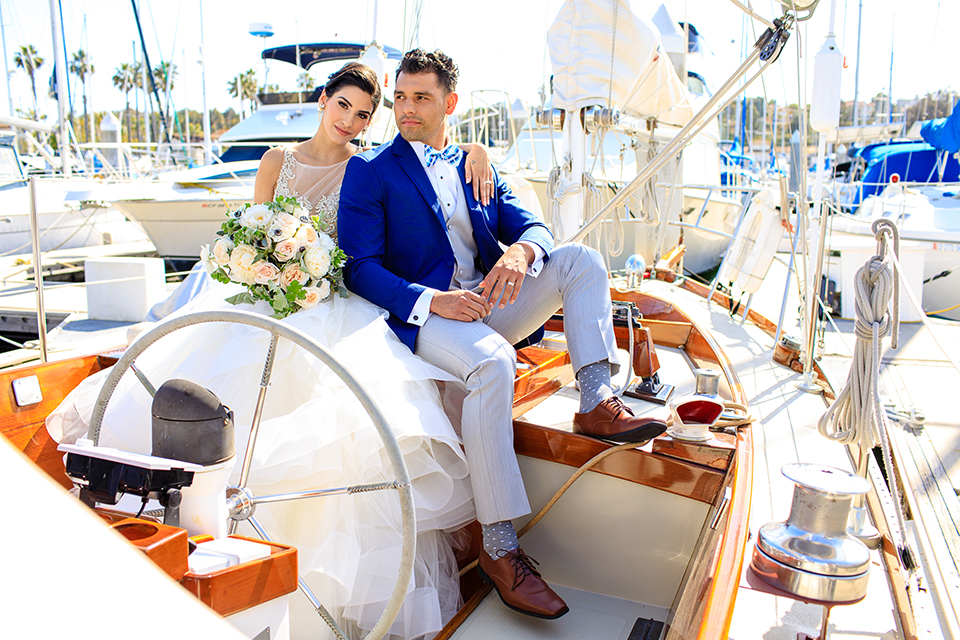 Preppy Nautical Wedding at the LA Yacht Club