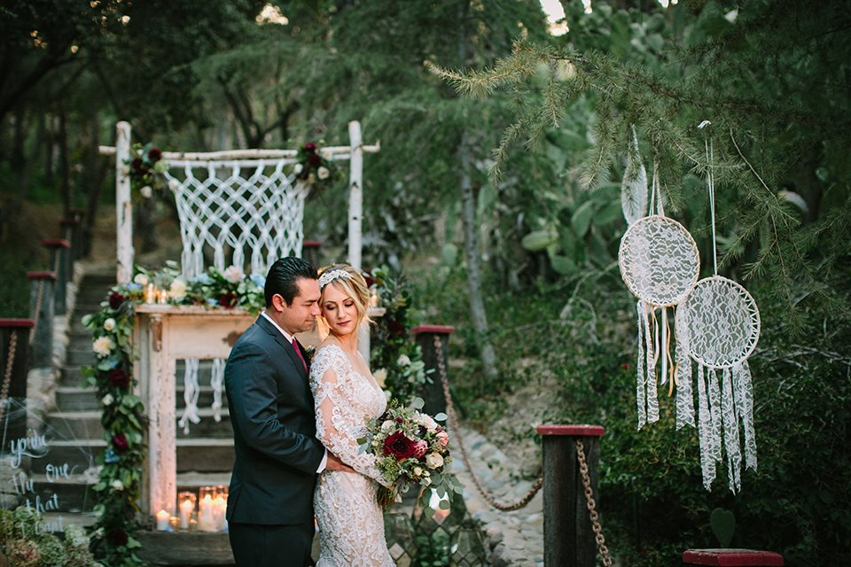Navy & Burgundy Romantic Bohemian Wedding