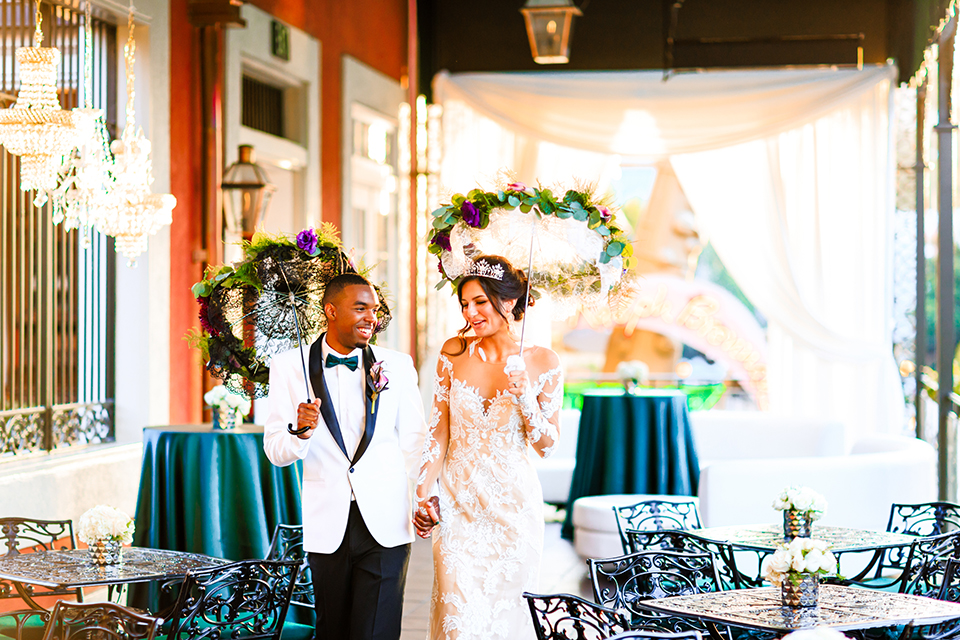 Jewel Toned Vintage Glam Wedding