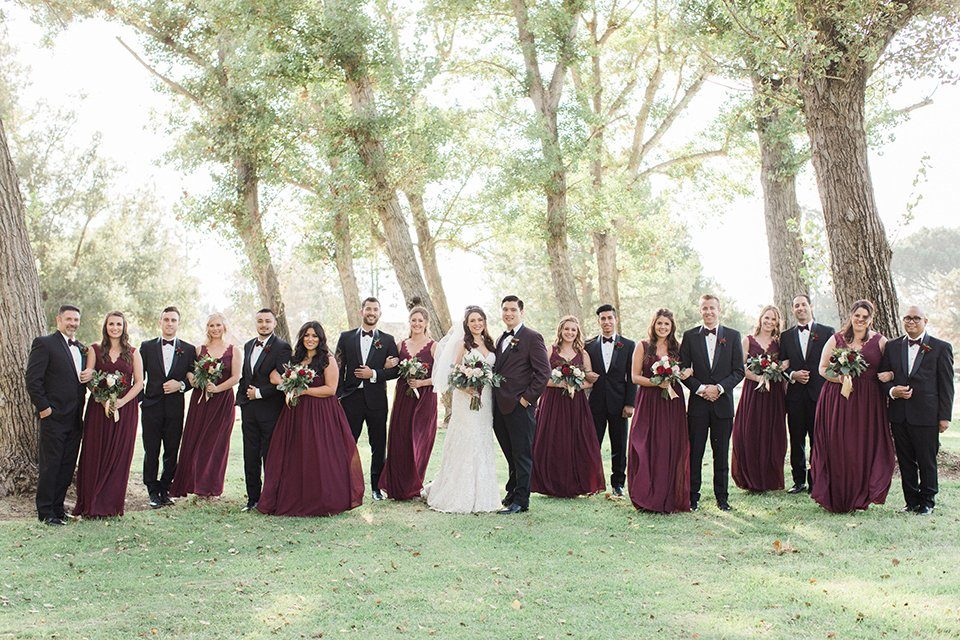 Glamorous Gold + Burgundy Wedding
