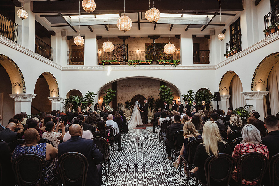 High Contrast Wedding Design at the Ebell Long Beach