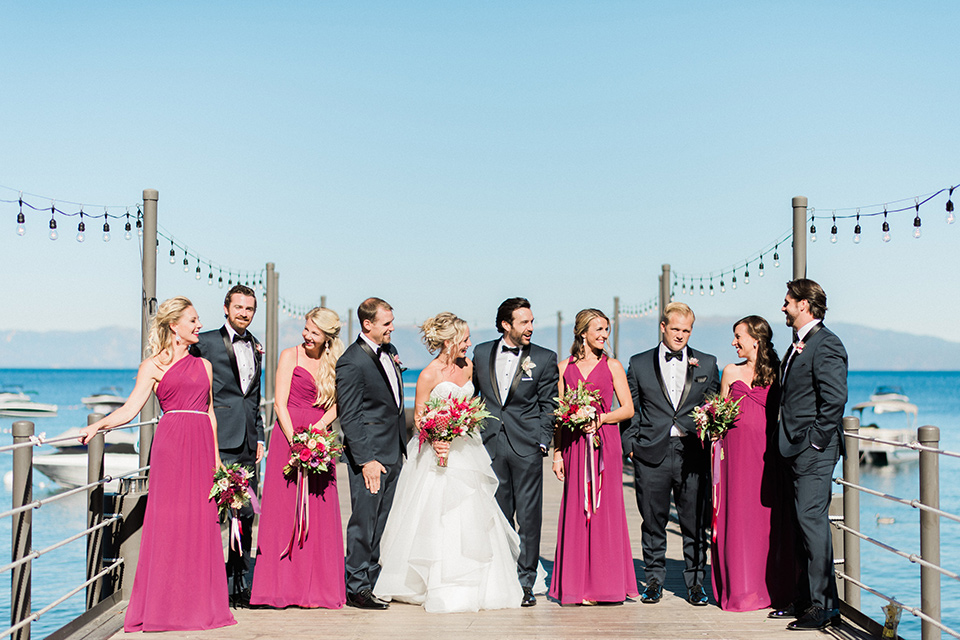 Jewel Toned Wedding Lakeside in Tahoe