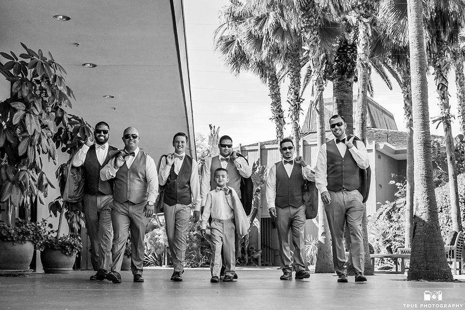 Grey Bridesmaid Gowns + Grey Groomsmen Suits, see how...