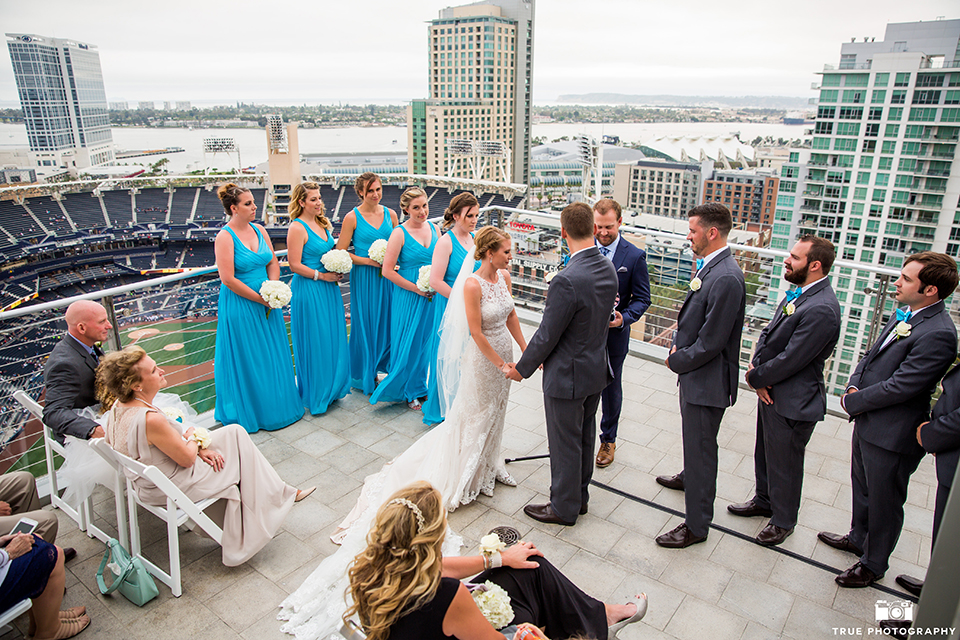 Modern Colorful Wedding at The Ultimate Skybox