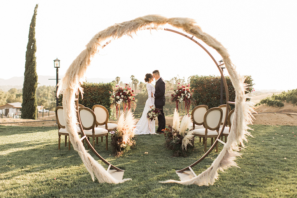 A Romantic Wedding with Pampas Grass