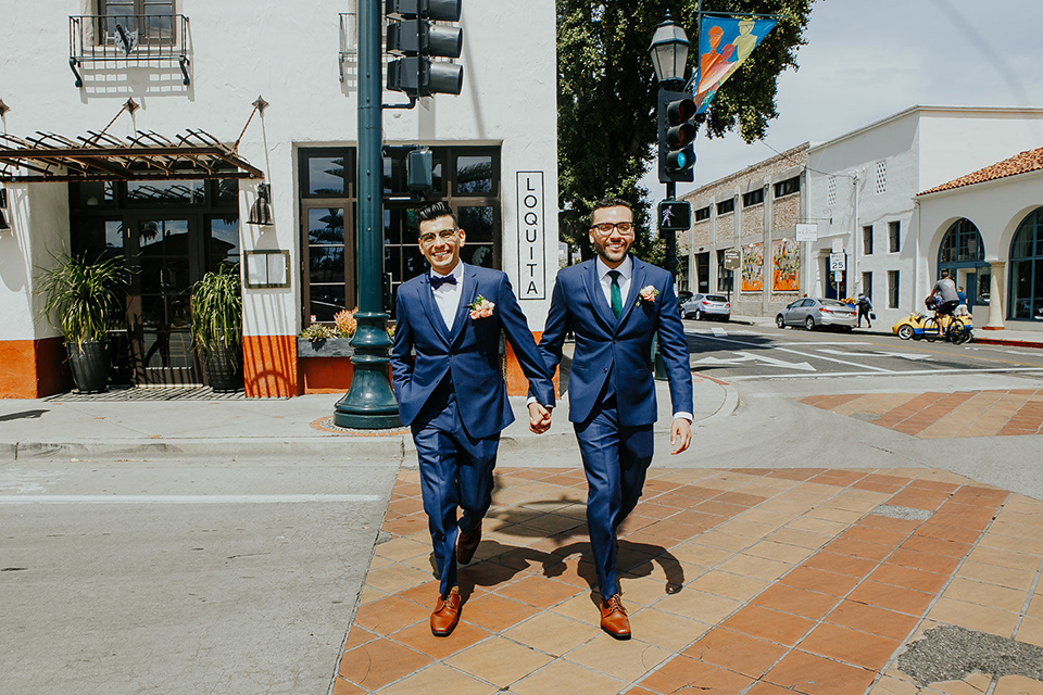 Colorful Wedding in Downtown Santa Barbara