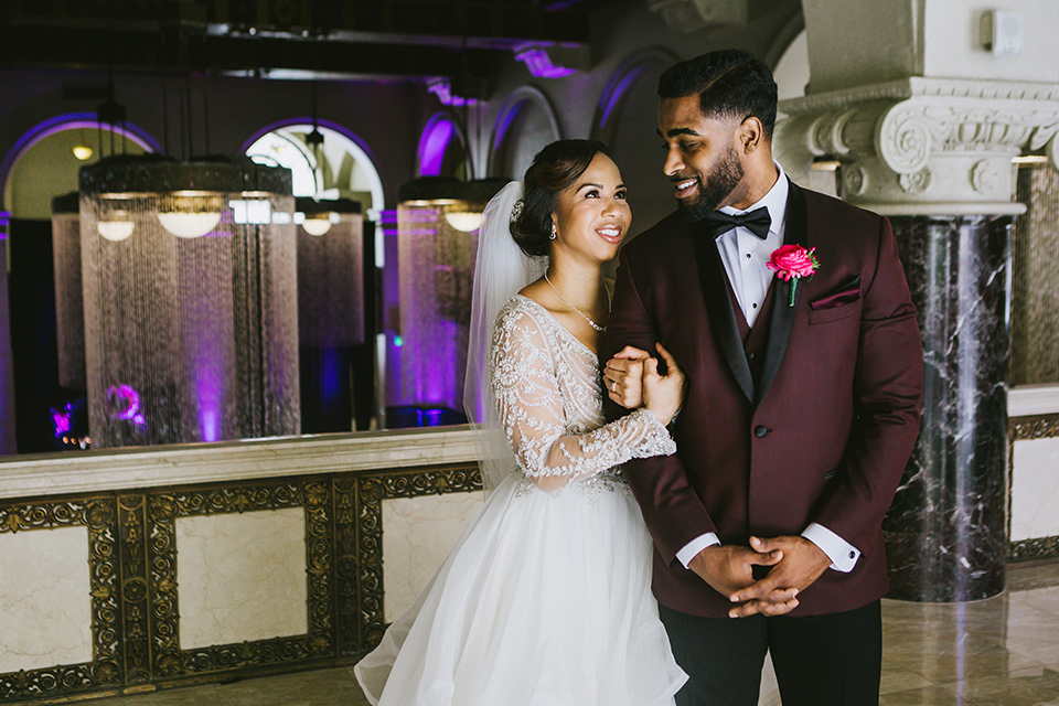 Dramatic Downtown Los Angeles Wedding
