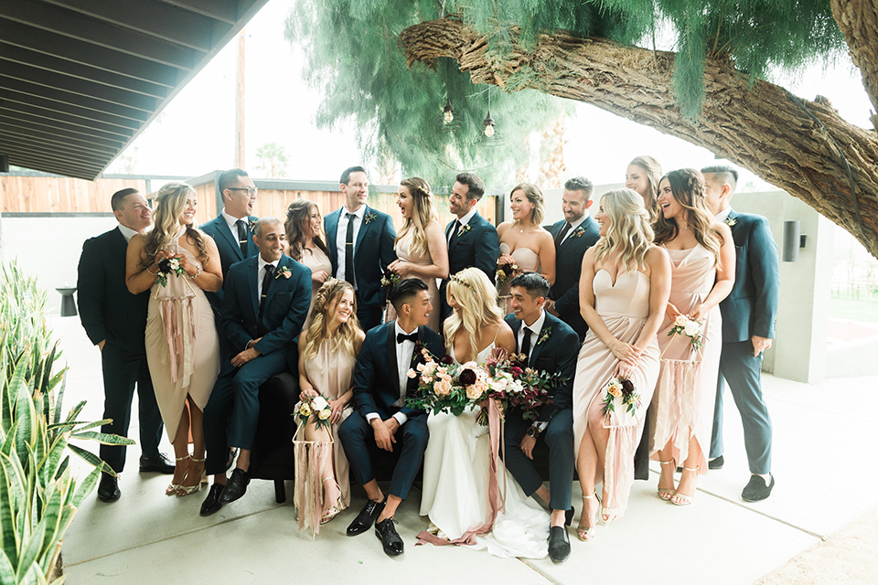 Chic Gold & Blush Palm Springs Wedding